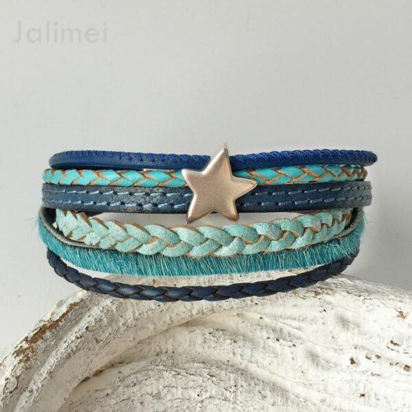 AS1336 türkis-blau Stern 1