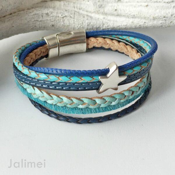 AS1336 türkis-blau Stern 2