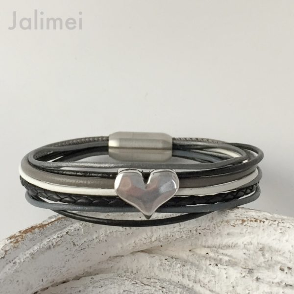 AS1094 schwarz-grau Herz1