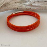 Schlichtes Wickelarmband aus Nappaleder orange