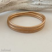 tolles Wickelarmband Nappaleder in rosegold