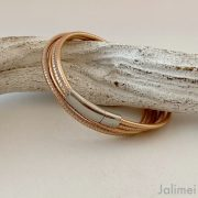 tolles Wickelarmband aus Nappaleder in rosegold