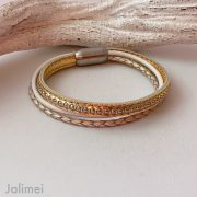 Lederarmband Chainball in rosegold