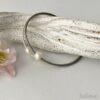 Lederarmband Perle in Perlmutt-weiß